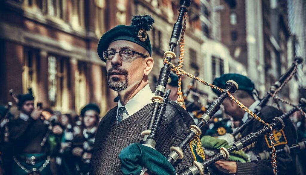 An Irish piper