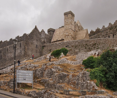 Tourists taking pictures at the Rock of Cashel